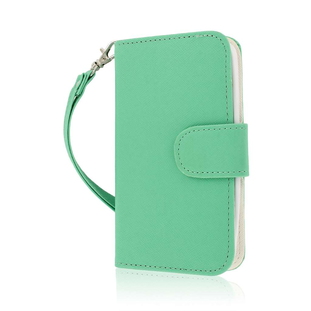 LG G2 Mini - Mint MPERO FLEX FLIP Wallet Case Cover
