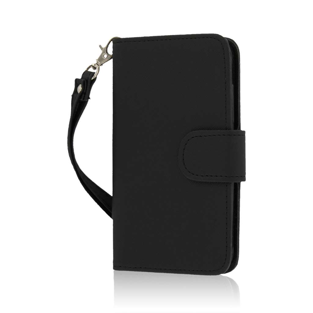 Nokia Lumia 635 - Black MPERO FLEX FLIP Wallet Case Cover