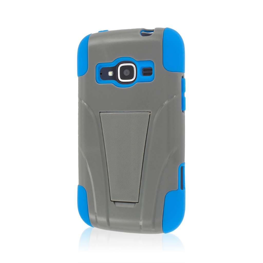 ZTE Concord 2 - Blue / Gray MPERO IMPACT X - Kickstand Case Cover