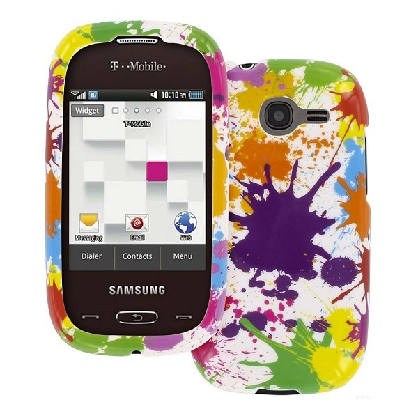 Samsung Gravity Q - White Paint Splatter MPERO SNAPZ - Glossy Case Cover