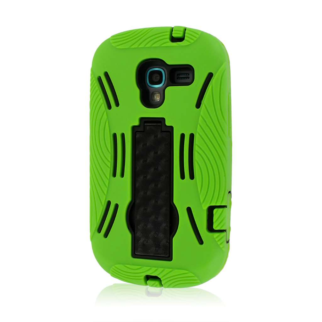 Samsung Galaxy Exhibit T599 - Neon Green MPERO IMPACT XL - Kickstand Case