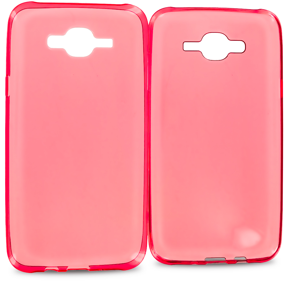 Samsung Galaxy J7 Red TPU Rubber Skin Case Cover