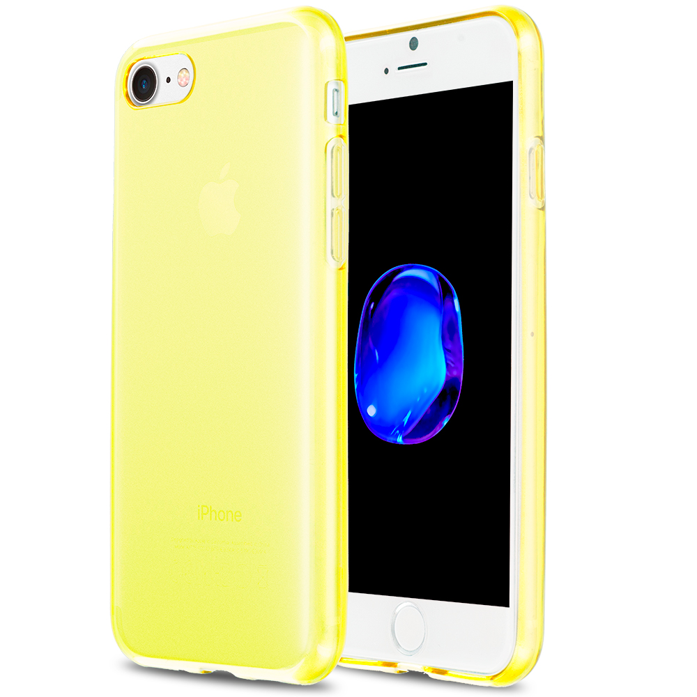 Apple iPhone 7 Plus Yellow TPU Rubber Skin Case Cover