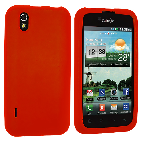 LG Optimus Black P970 / Marquee Orange Silicone Soft Skin Case Cover