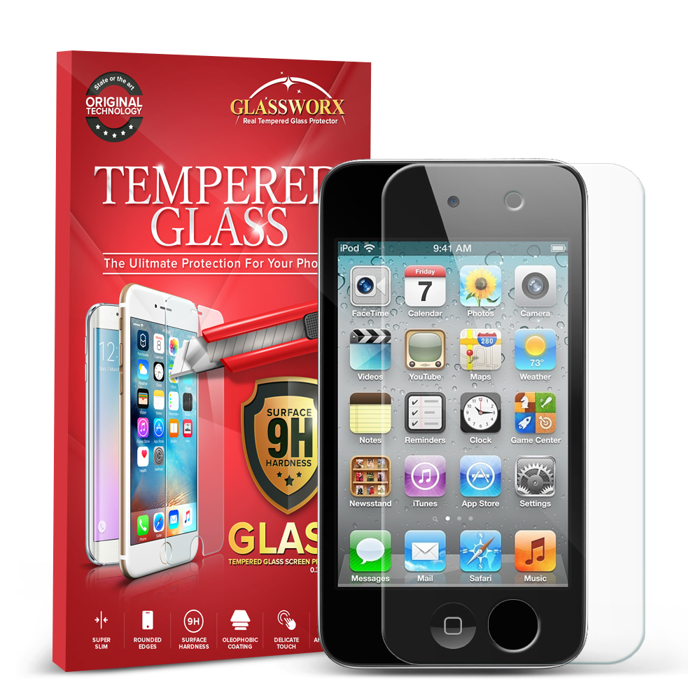 Apple iPod Touch 4th Generation GlassWorX HD Clear Tempered Glass Screen Protector
