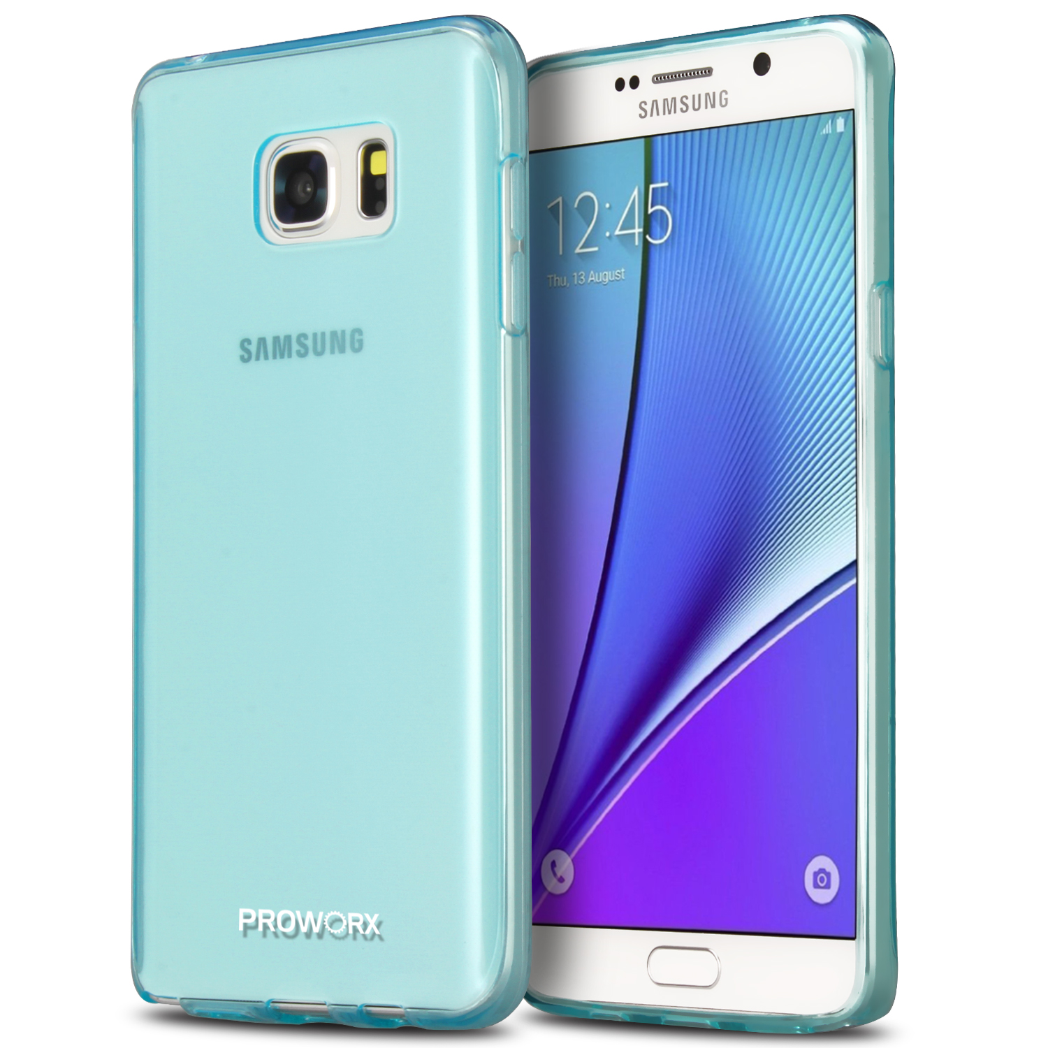 Samsung Galaxy Note 5 Mint Green ProWorx Ultra Slim Thin Scratch Resistant TPU Silicone Case Cover