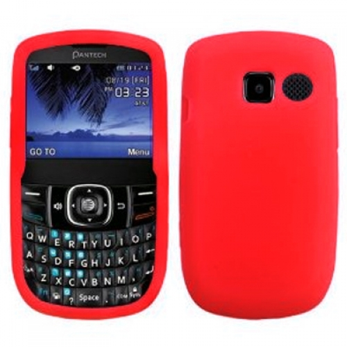 Pantech Link II 2 P5000 Red Silicone Soft Skin Case Cover