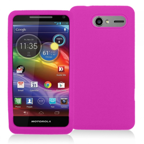 Motorola Electrify M XT901 Hot Pink Silicone Soft Skin Case Cover