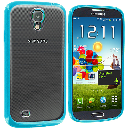 Samsung Galaxy S4 Baby Blue TPU Plastic Hybrid Case Cover