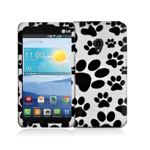 LG Lucid 2 VS870 Dog Paw Hard Rubberized Design Case Cover