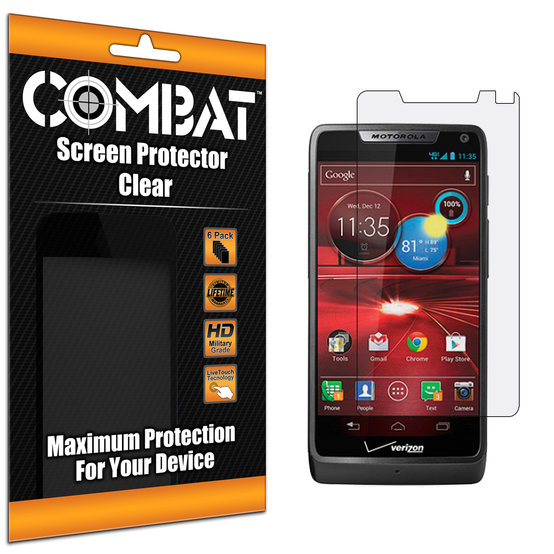 Motorola Droid Razr M XT907 / Luge Combat 6 Pack HD Clear Screen Protector