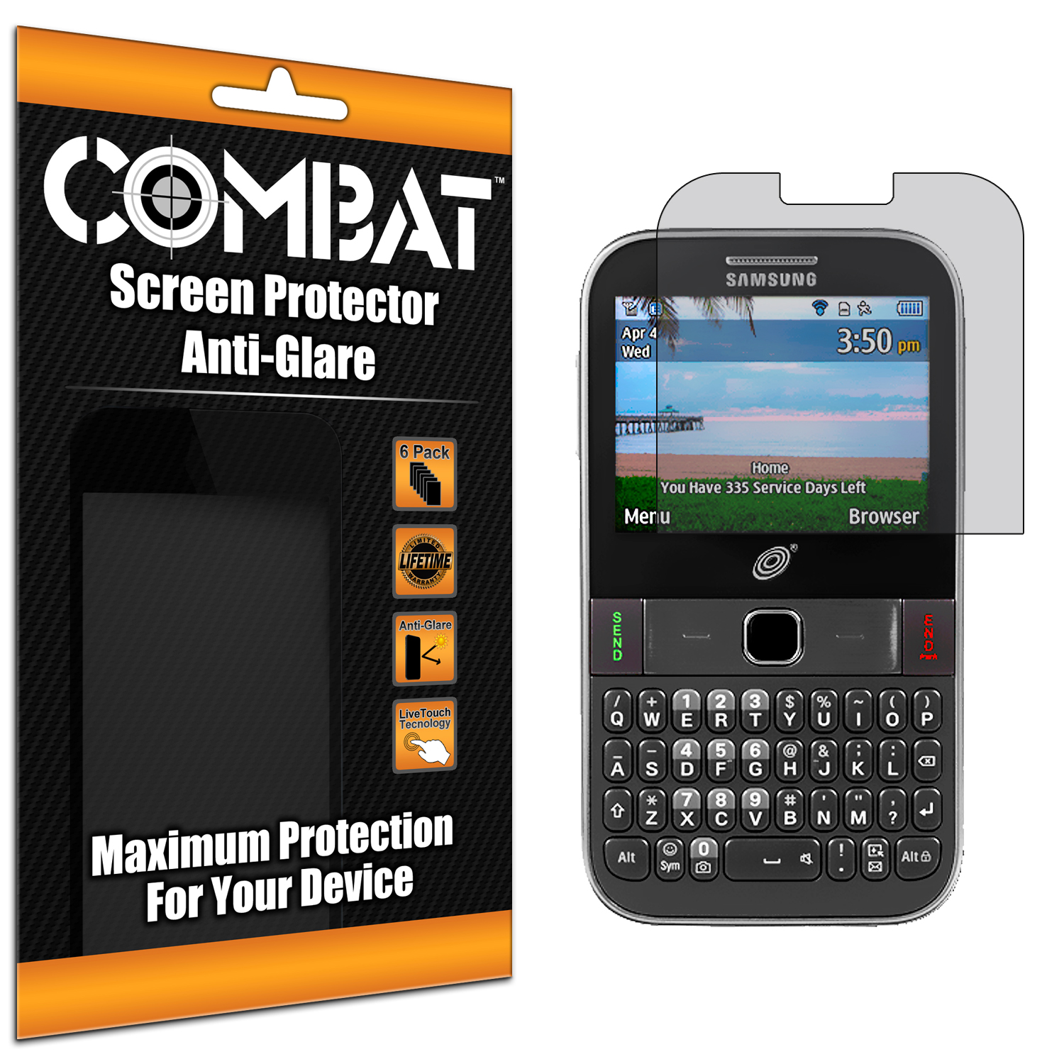 Samsung Freeform M S390G Combat 6 Pack Anti-Glare Matte Screen Protector