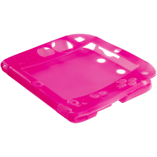 Nintendo 2DS Hot Pink Silicone Soft Skin Case Cover