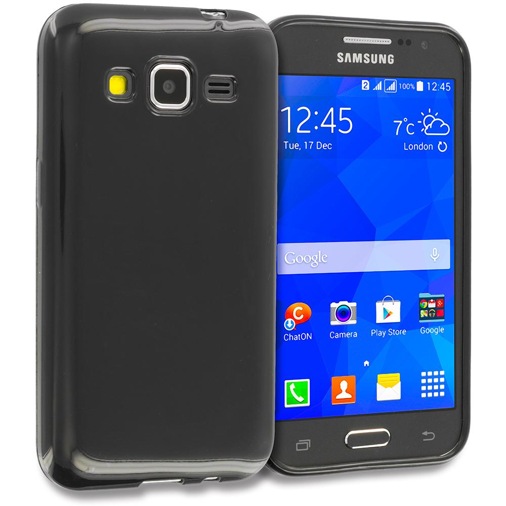 Samsung Galaxy Prevail LTE Core Prime G360P Black TPU Rubber Skin Case Cover