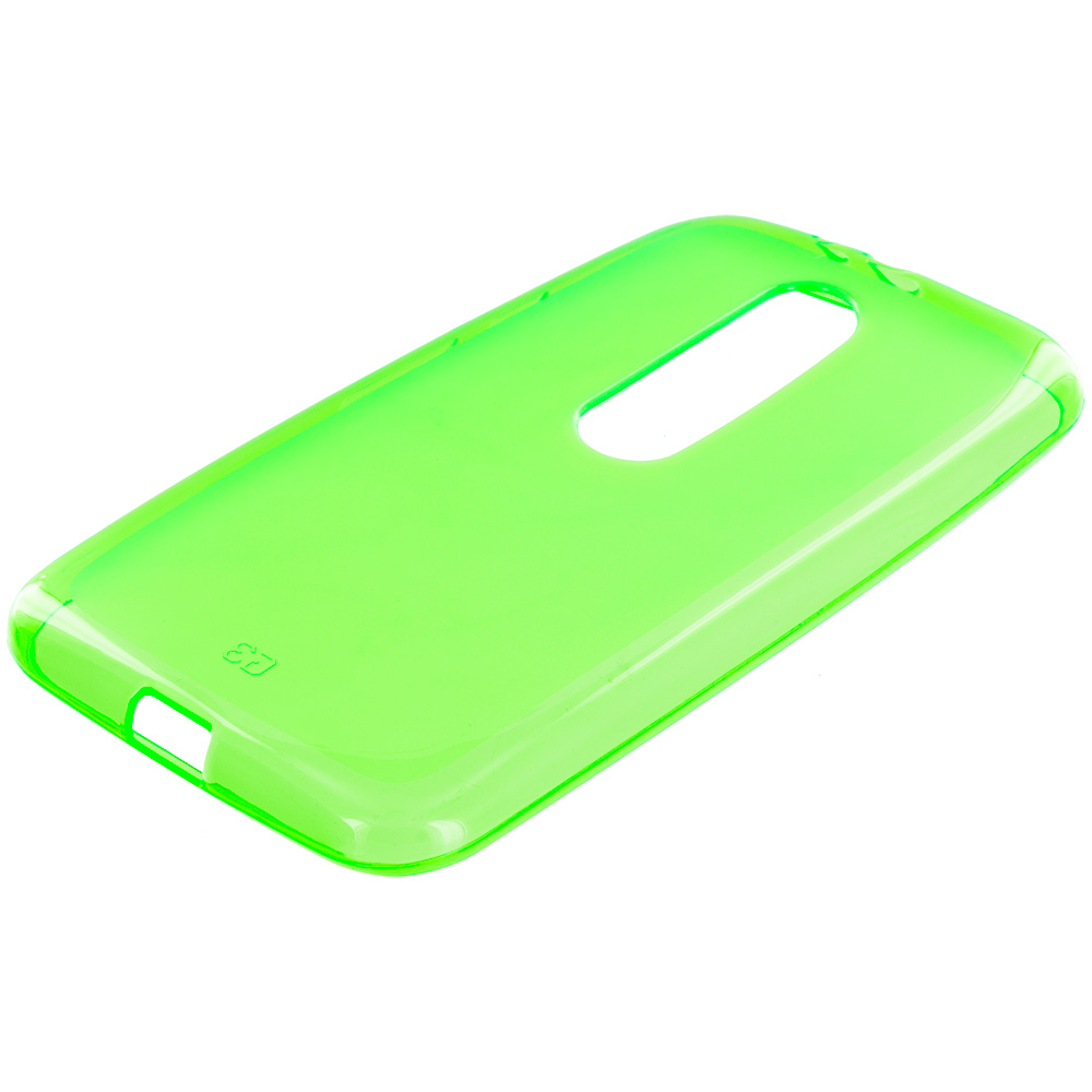 Motorola Moto G 3rd Gen 2015 Neon Green TPU Rubber Skin Case Cover