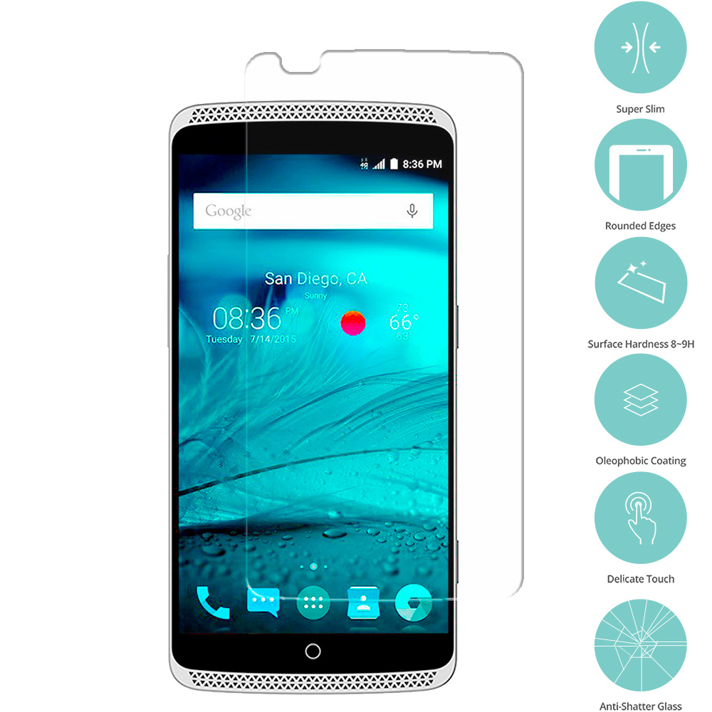 ZTE Axon Clear Tempered Glass Film Screen Protector Clear