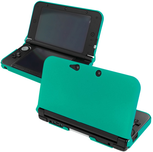 Nintendo 3DS XL Mint Green Hard Rubberized Case Cover