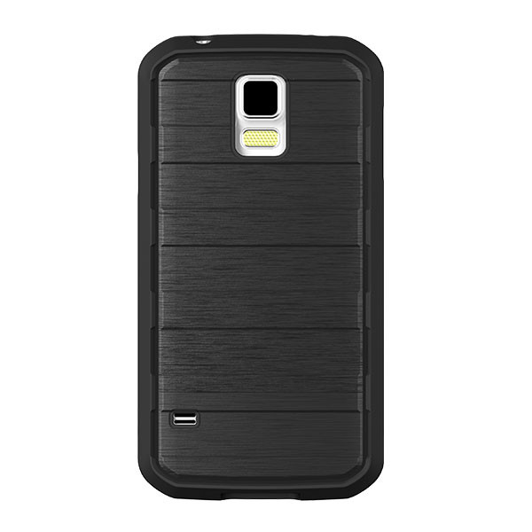 Galaxy S5 - Black/Brushed Metal BodyGlove Rise Case Cover