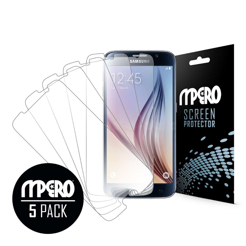 Samsung Galaxy S6 MPERO 5 Pack of Ultra Clear Screen Protectors