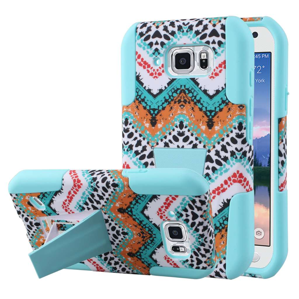 Samsung Galaxy S6 Active - Aqua Safari MPERO IMPACT X - Kickstand Case Cover
