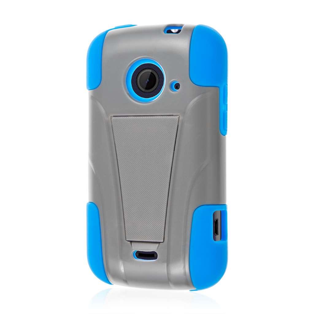 ZTE Zinger Z667 - Blue / Gray MPERO IMPACT X - Kickstand Case Cover