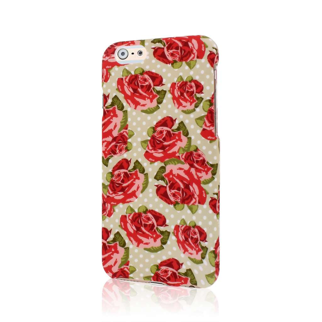 Apple iPhone 6/6S - Vintage Red Roses MPERO SNAPZ - Case Cover