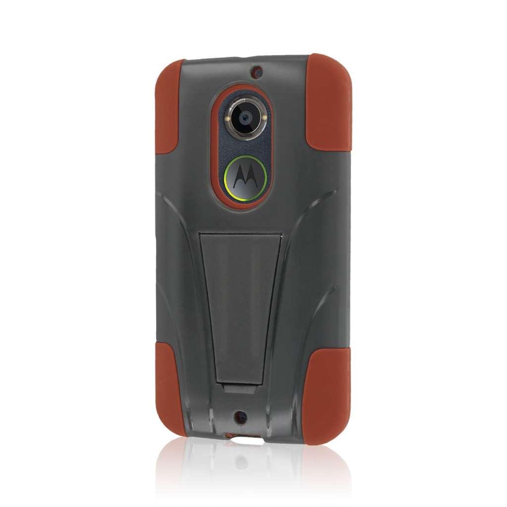 Motorola Moto X 2014 2nd Gen - Sandstone / Gray MPERO IMPACT X - Stand Case