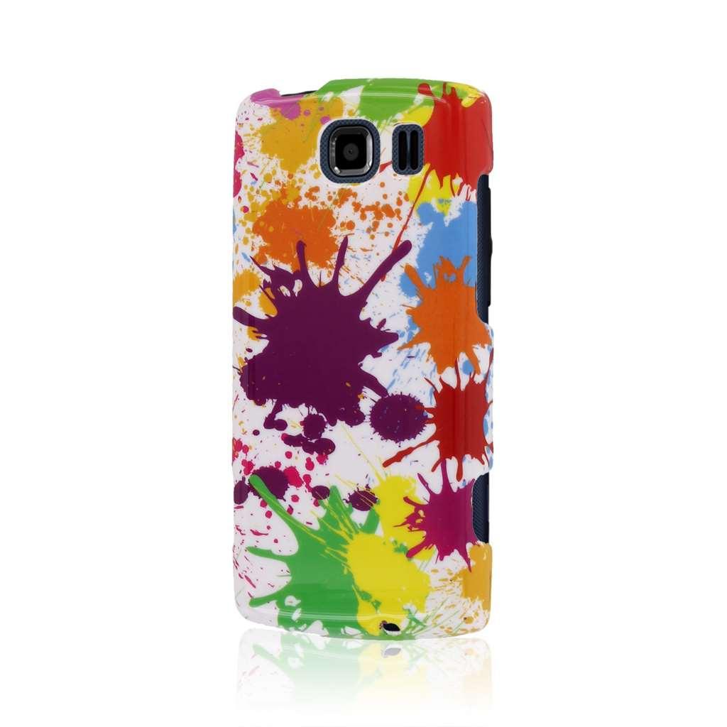 Kyocera Verve - White Paint Splatter MPERO SNAPZ - Case Cover