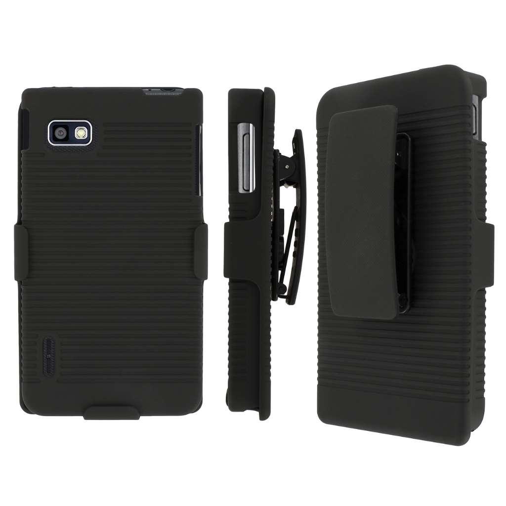 T-Mobile LG Optimus F3 MPERO 3 in 1 Tough Kickstand Case Cover