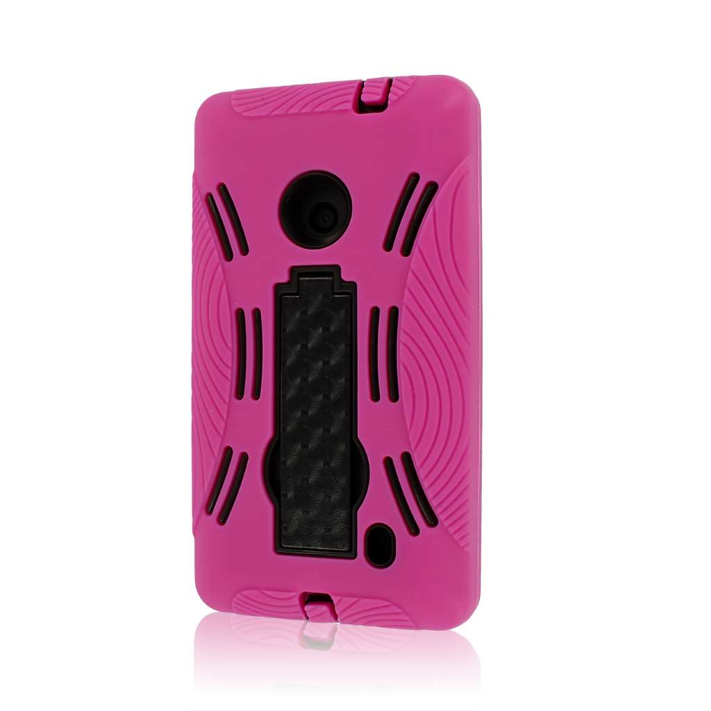 Nokia Lumia 521 - Hot Pink MPERO IMPACT XL - Kickstand Case Cover