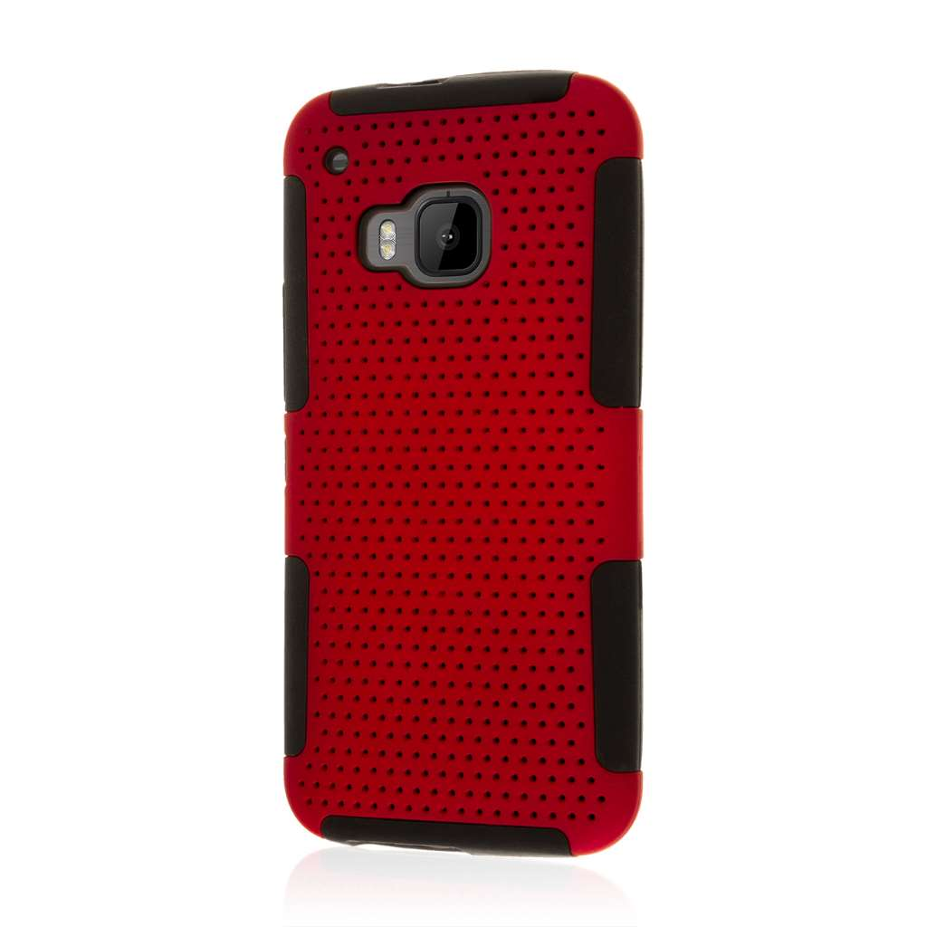 HTC One M9 - Red MPERO FUSION M - Protective Case Cover