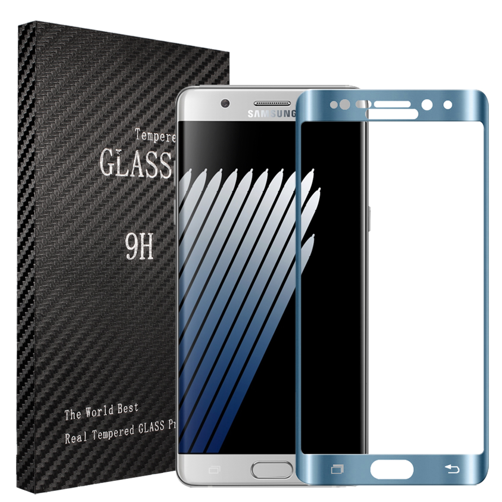 Samsung Galaxy Note 7 Blue Full Curved Tempered Glass Screen Protector