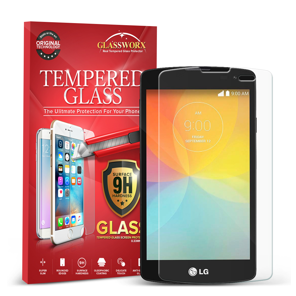 LG Transpyre Tribute F60 GlassWorX HD Clear Tempered Glass Screen Protector
