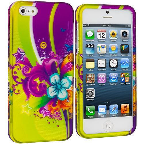 Apple iPhone 5/5S/SE Love Flower Hard Rubberized Design Case Cover