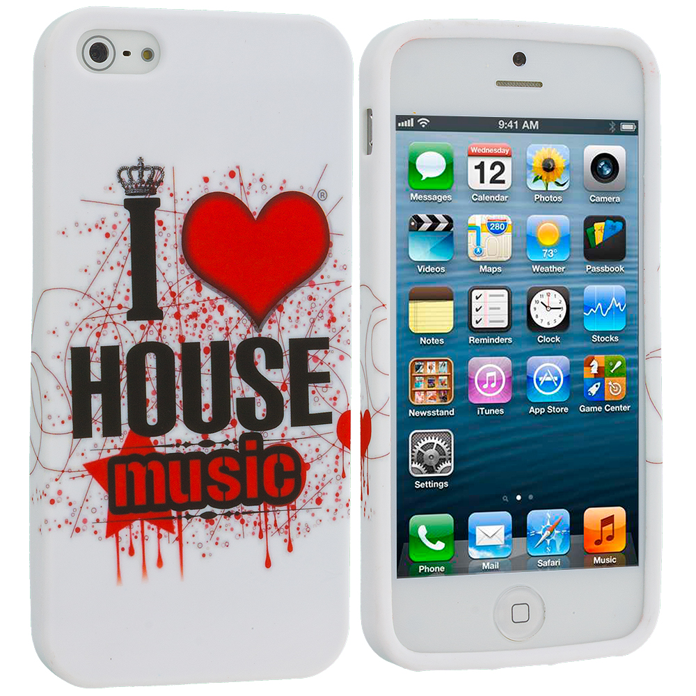Apple iPhone 5 House Music TPU Design Soft Case Cover