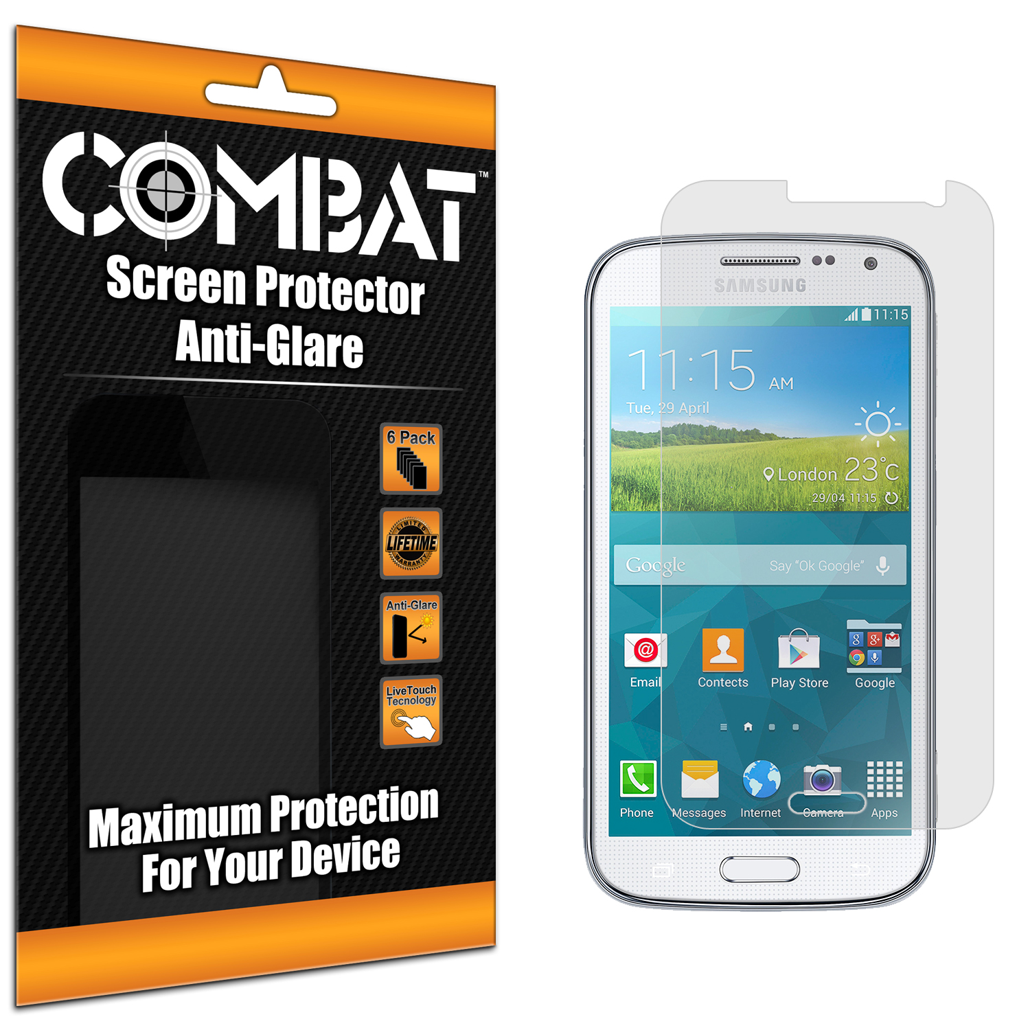 Samsung Galaxy K Zoom Combat 6 Pack Anti-Glare Matte Screen Protector