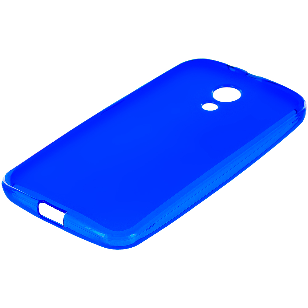 Motorola Moto G 2nd Gen 2014 Blue TPU Rubber Skin Case Cover
