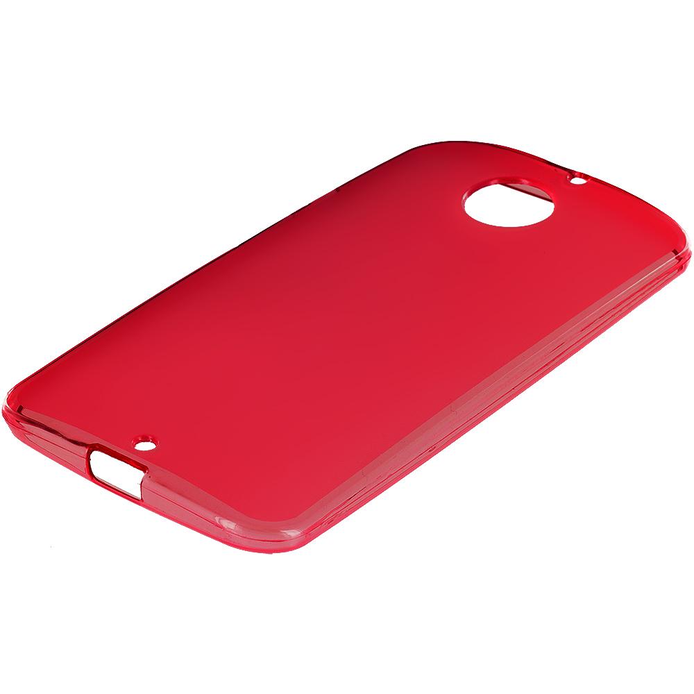 Motorola Moto X 2nd Gen Red TPU Rubber Skin Case Cover