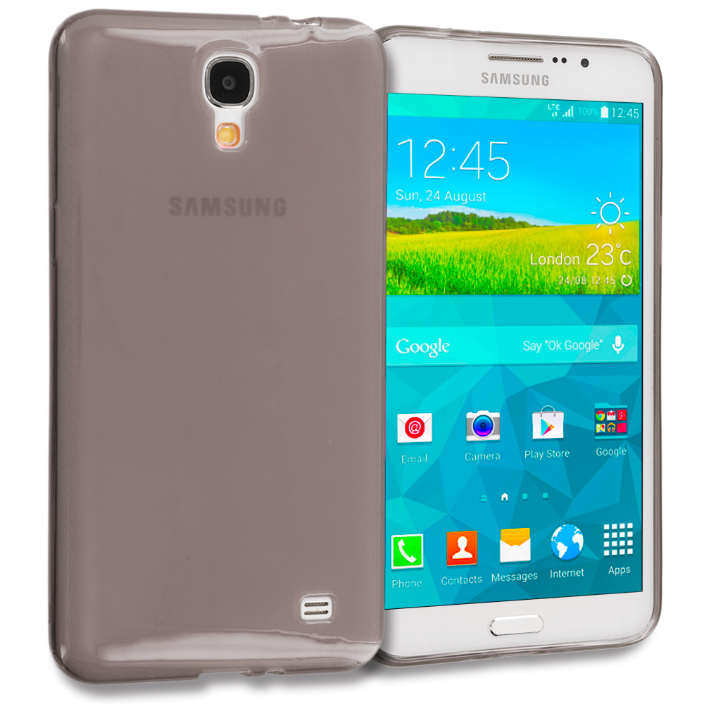 Samsung Galaxy Mega 2 Smoke TPU Rubber Skin Case Cover
