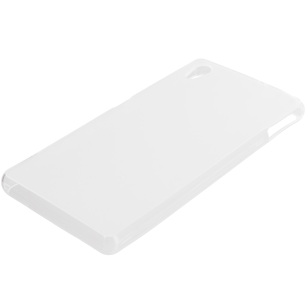 Sony Xperia Z3v Verizon Clear TPU Rubber Skin Case Cover