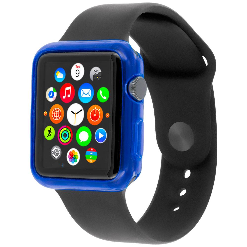 Apple Watch 42mm Blue TPU Rubber Skin Case Cover