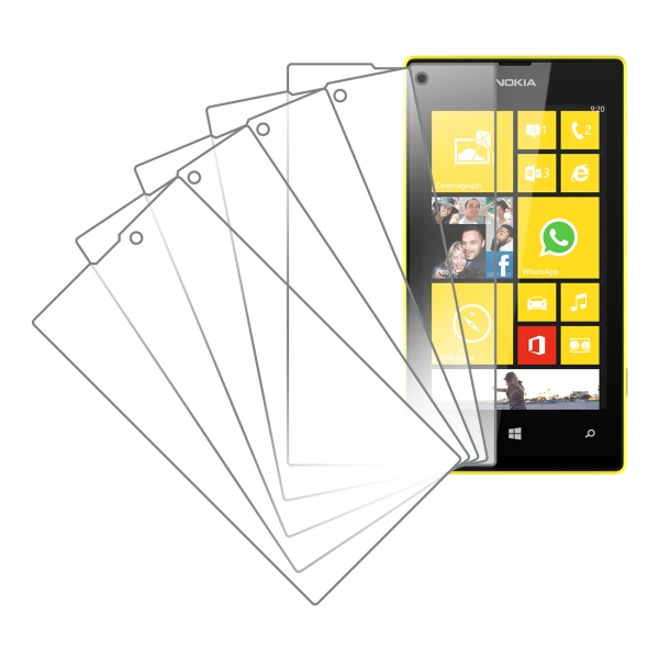 Nokia Lumia 520 MPERO 5 Pack of Clear Screen Protectors