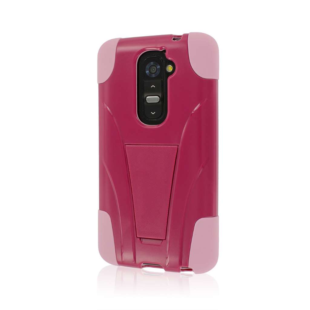 LG G2 - Hot Pink / Pink MPERO IMPACT X - Kickstand Case Cover