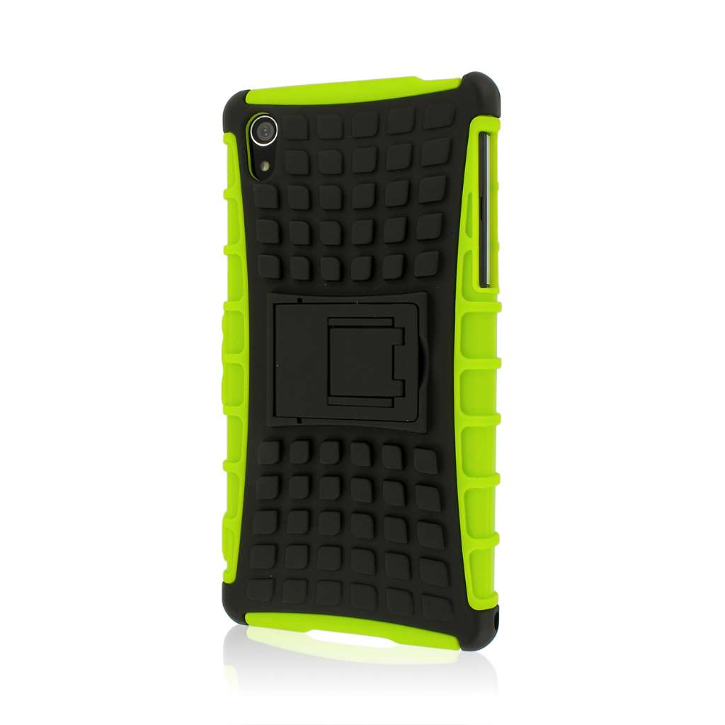 Sony Xperia Z2 - Neon Green MPERO IMPACT SR - Kickstand Case Cover