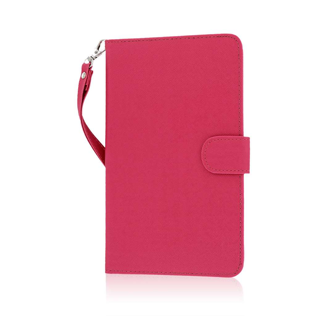 Samsung Galaxy Tab 4 7.0 - Hot Pink MPERO FLEX FLIP Wallet Case Cover