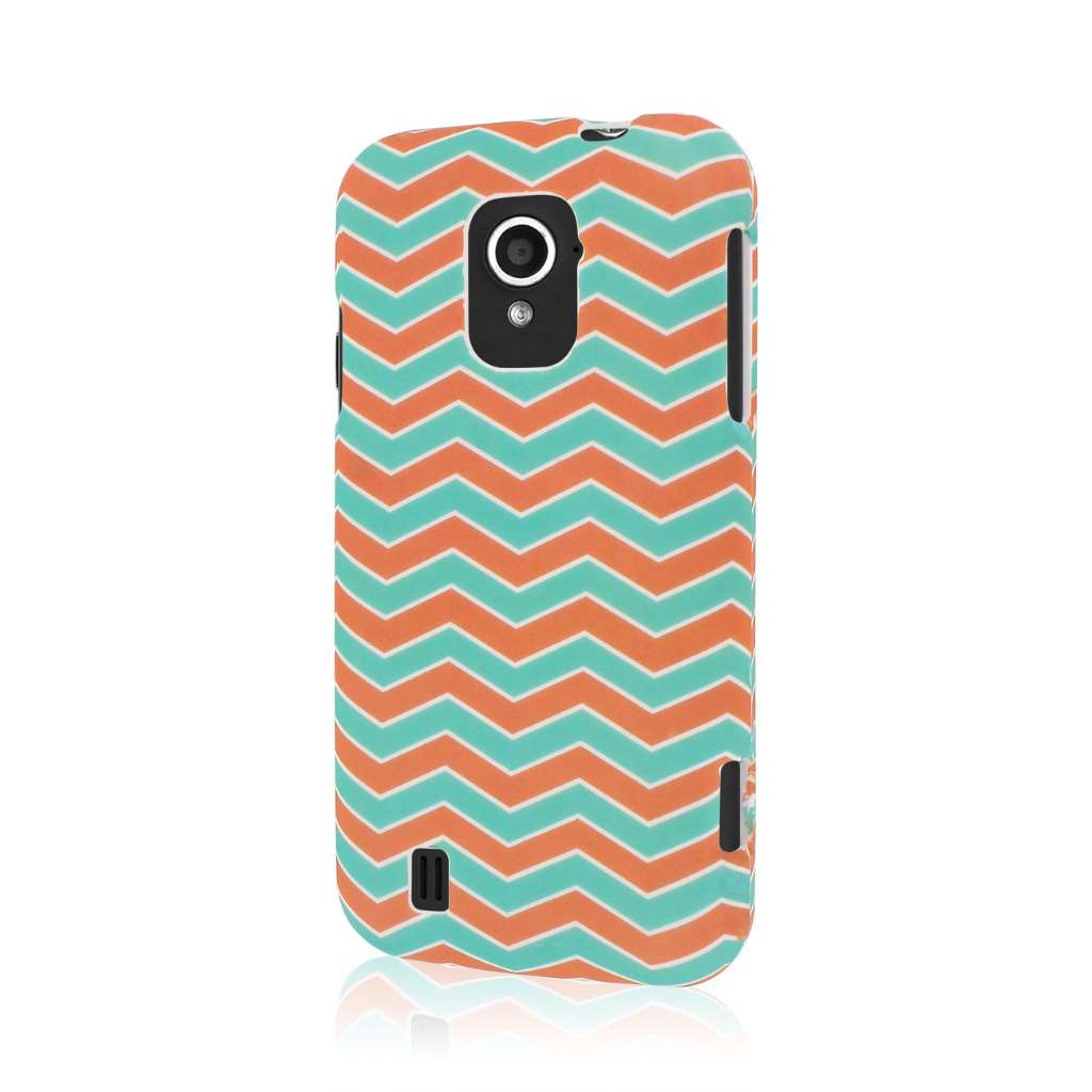 ZTE Source - Mint Chevron MPERO SNAPZ - Rubberized Case Cover