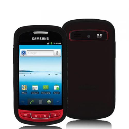 Samsung Admire R720 Black Silicone Soft Skin Case Cover