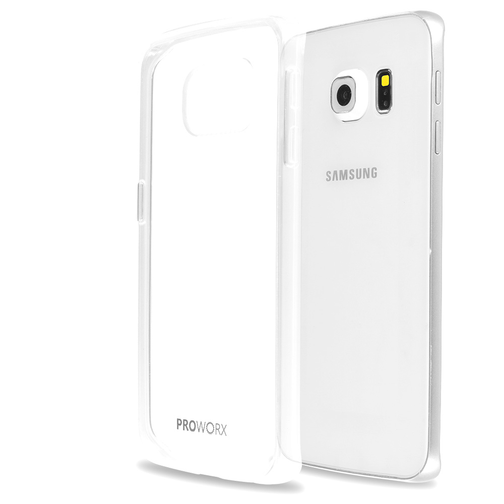 Samsung Galaxy S6 Edge Clear ProWorx Shock Absorption Case Bumper TPU & Anti-Scratch Clear Back Cover