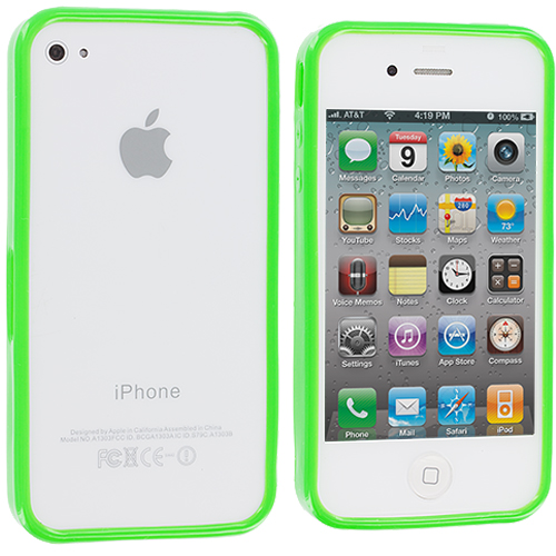 Apple iPhone 4 / 4S Neon Green Solid TPU Bumper