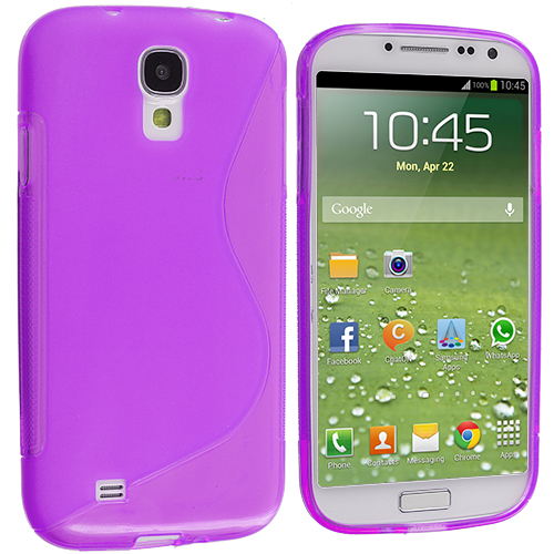Samsung Galaxy S4 Purple S-Line TPU Rubber Skin Case Cover